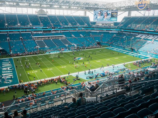Hard Rock Stadium Section 322 view