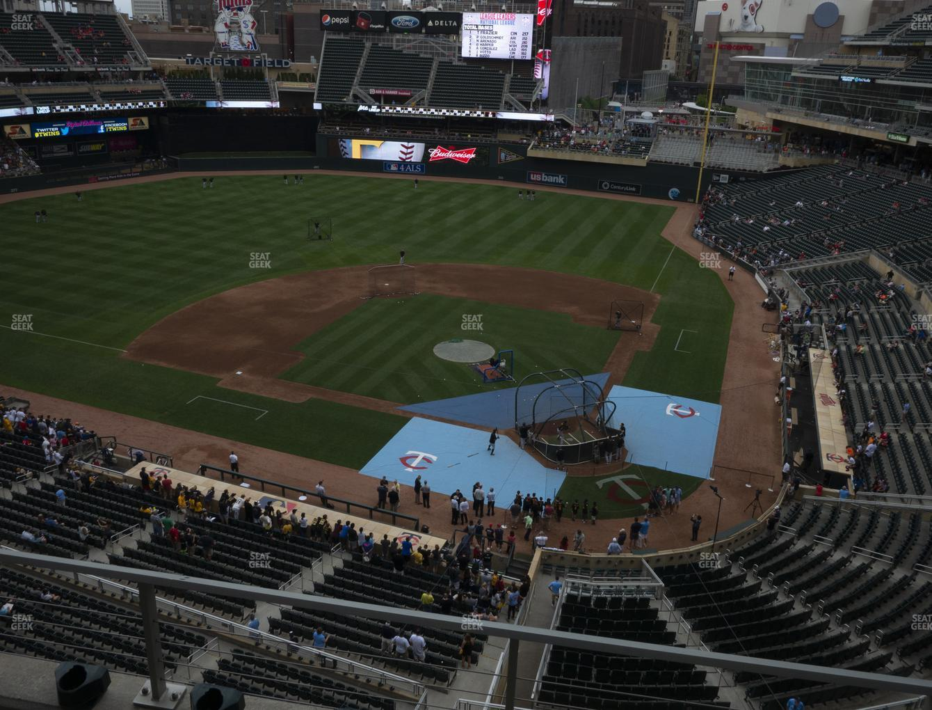 Target Field Section 218 Seat Views