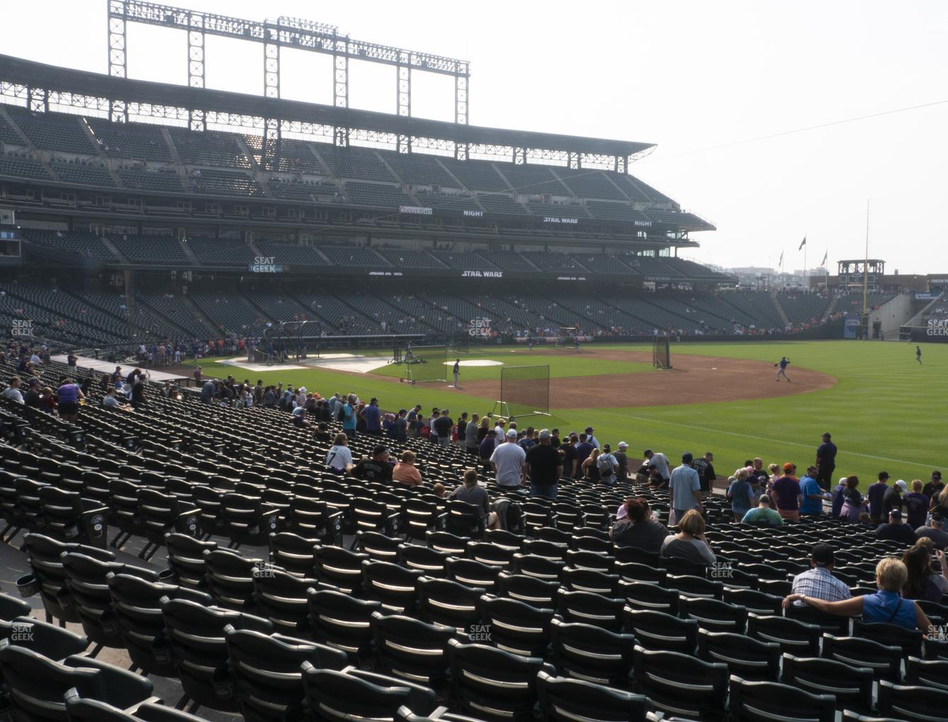 Colorado Rockies at Coors Field Section 117 View
