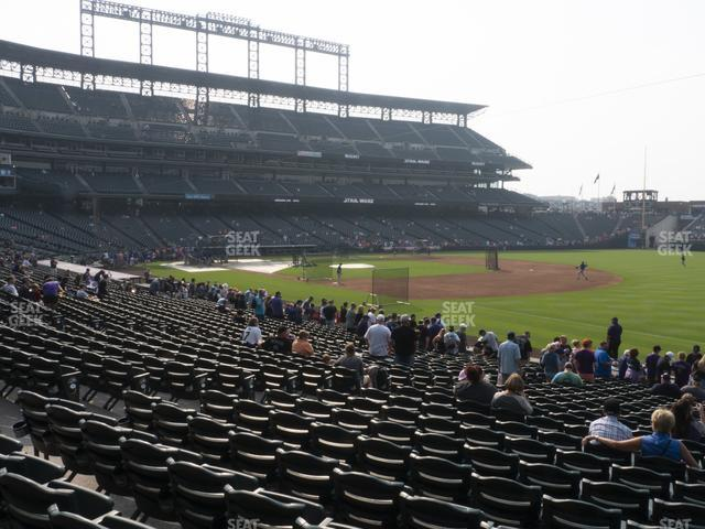 Coors Field Section 117 view