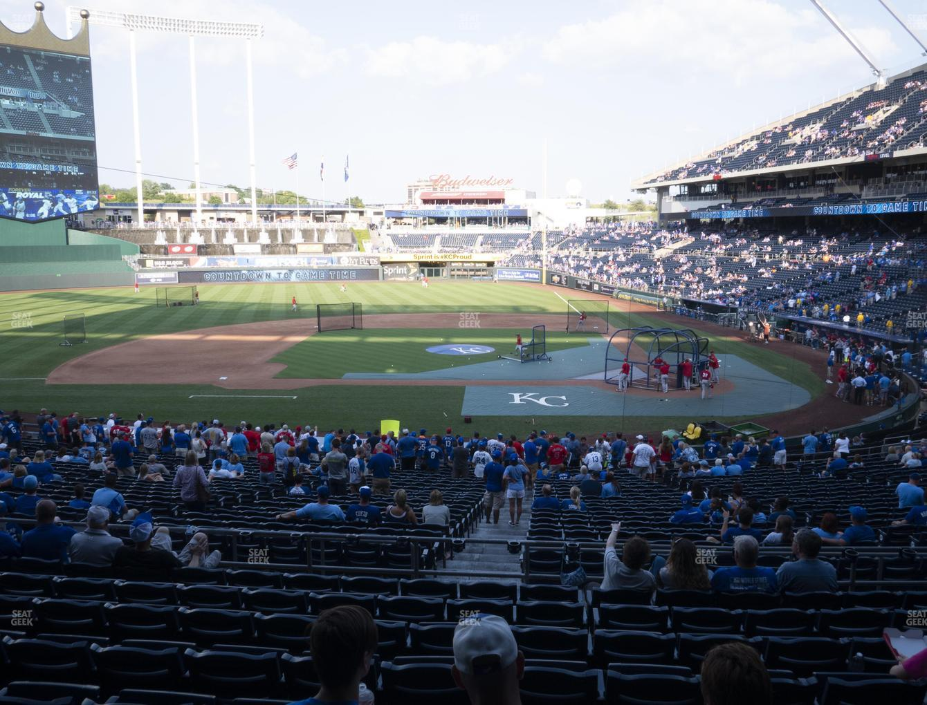 Kansas City Royals at Kauffman Stadium Section 223 View