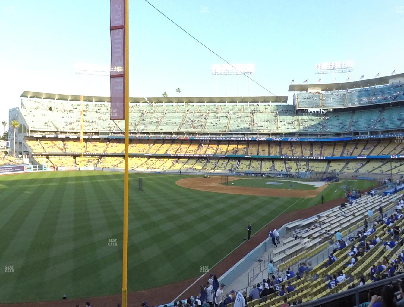 Los Angeles Dodgers at Dodger Stadium Loge Box 163 View