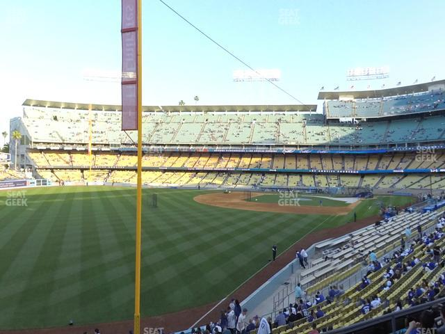 Dodger Stadium Loge Box 163 view