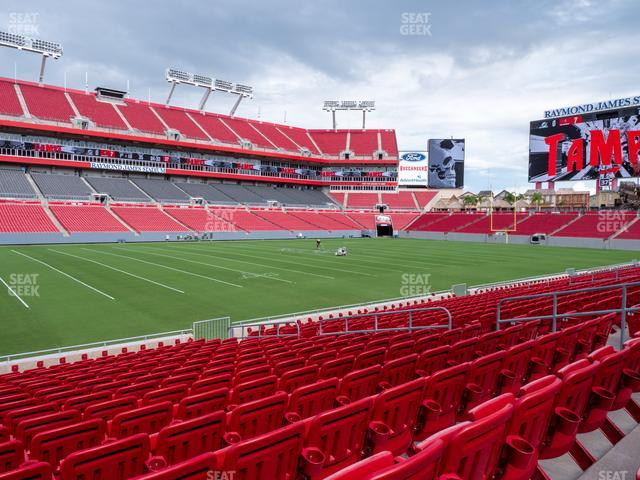 Raymond James Stadium Section 133 view