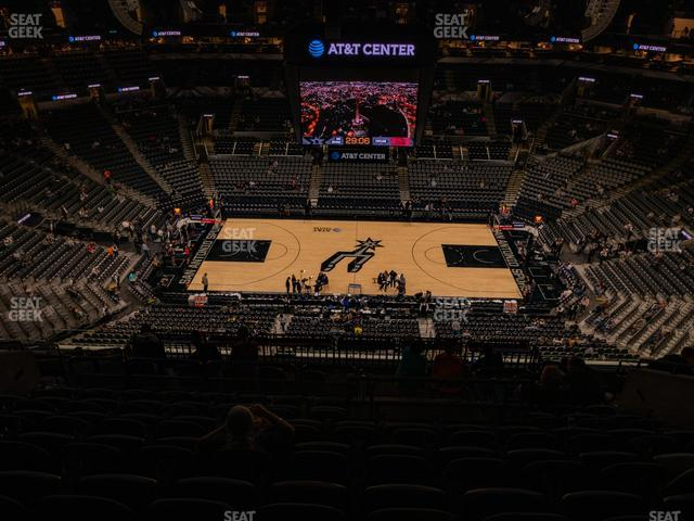 AT&T Center Section 208 view