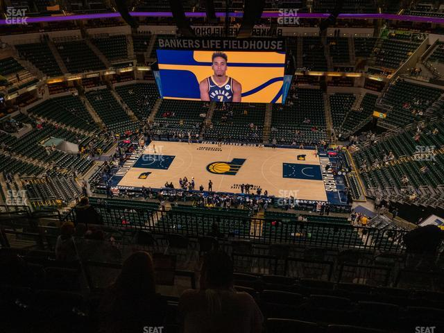 Bankers Life Fieldhouse Section 208 view