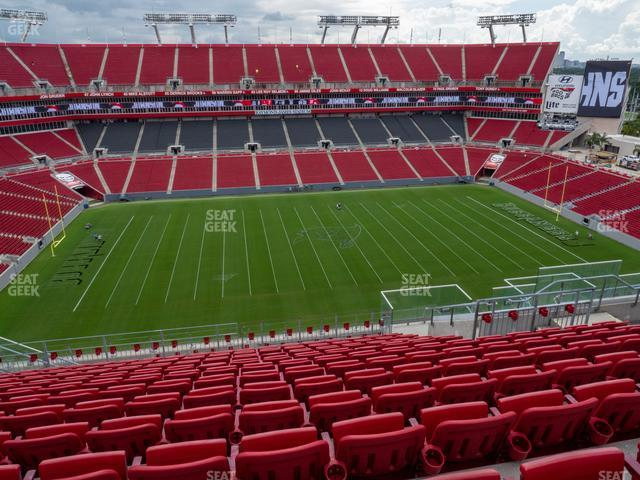 Raymond James Stadium Section 309 view