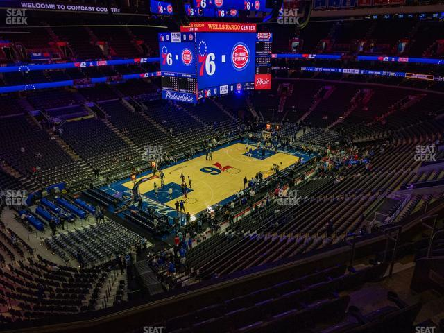 Wells Fargo Center Section 222 view