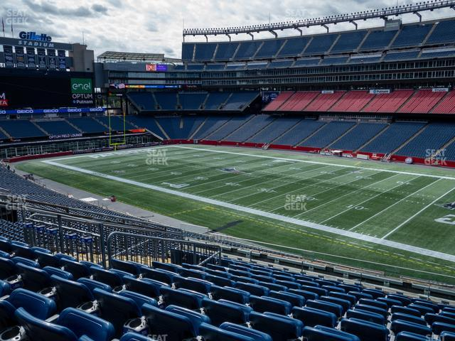 Gillette Stadium Section 205 view