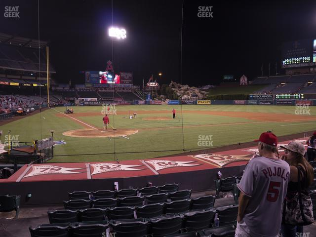 Angel Stadium of Anaheim Section 121 view