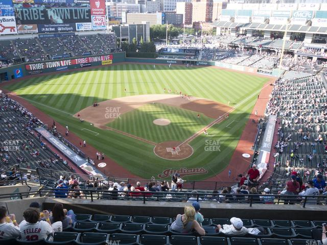 Progressive Field Section 555 view