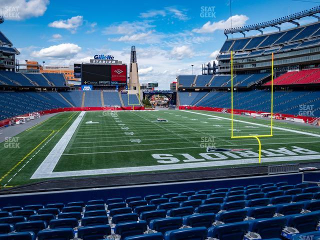 Gillette Stadium Section 122 view