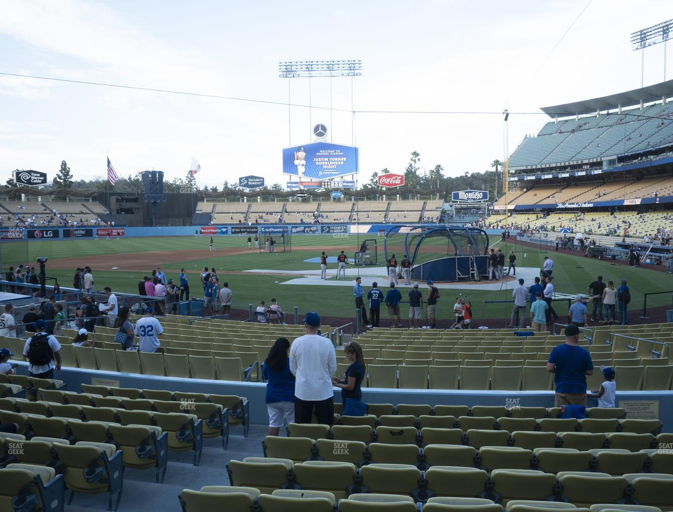 Los Angeles Dodgers at Dodger Stadium Field Box 7 View