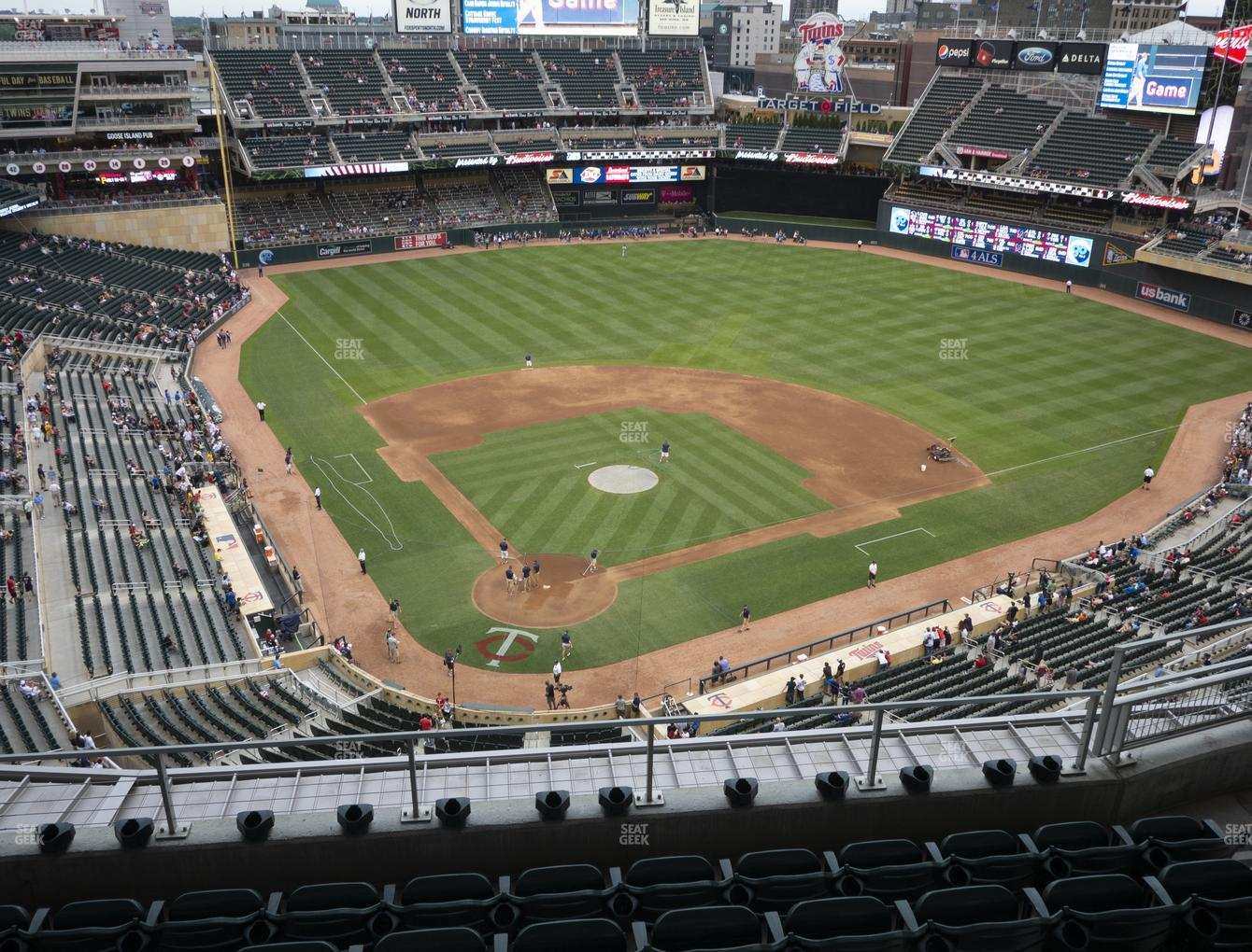 Minnesota Twins at Target Field Section 313 View