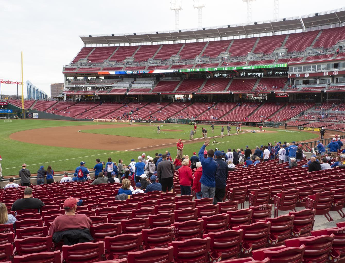 Cincinnati Reds at Great American Ball Park Section 113 View