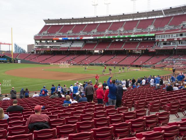 Great American Ball Park Section 113 view