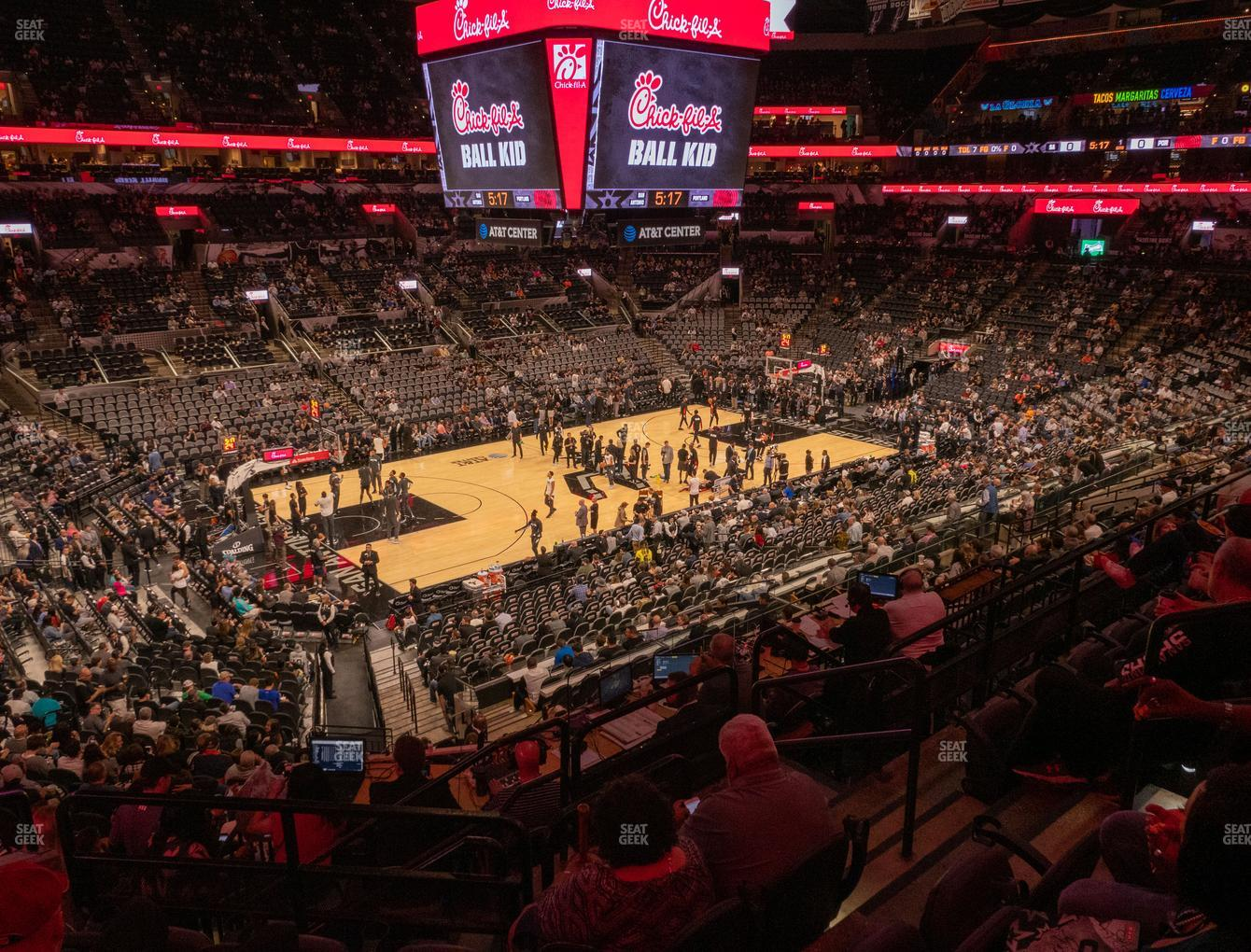 San Antonio Spurs at AT&T Center Section 110 View