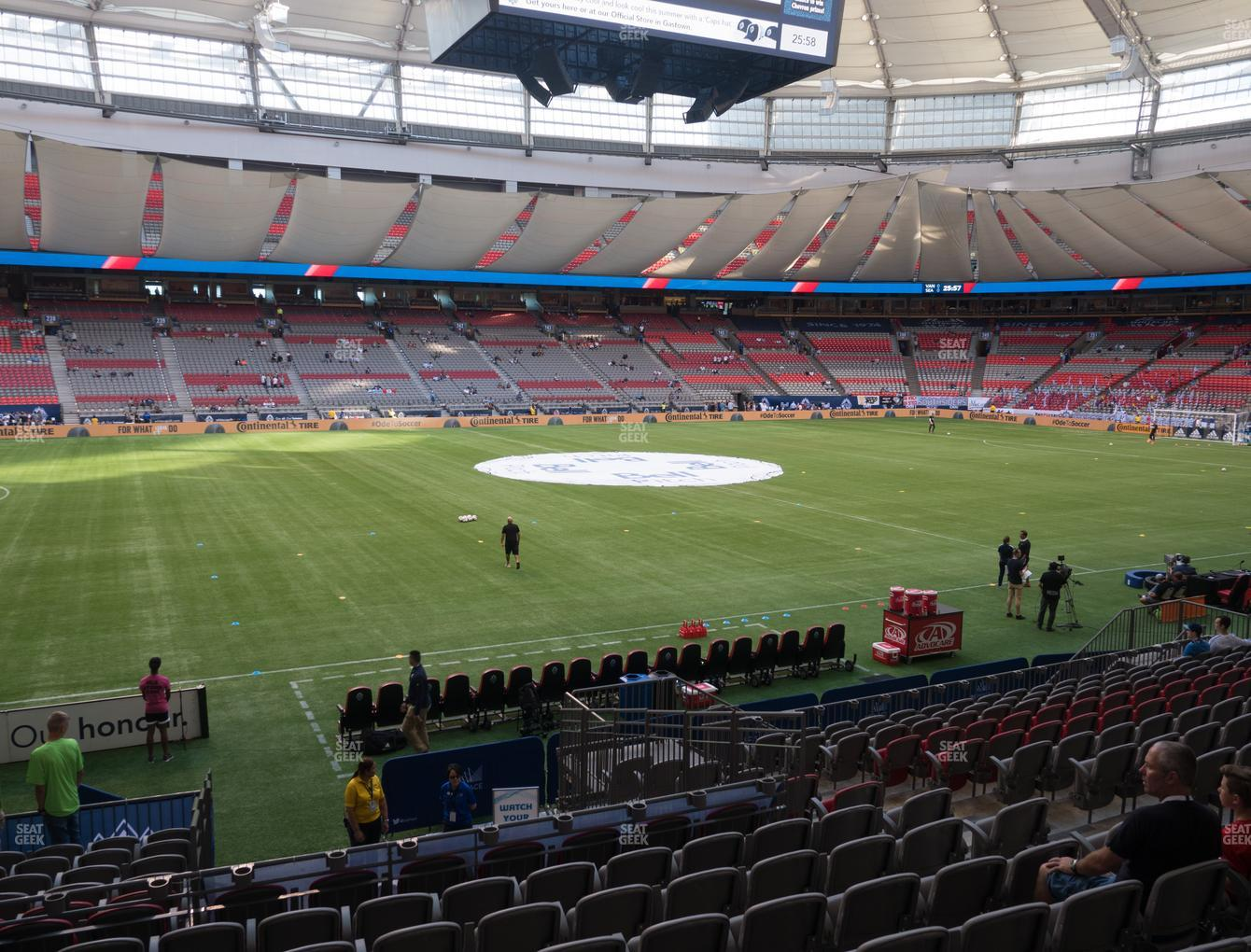 Vancouver Whitecaps FC at BC Place Stadium Section 217 View