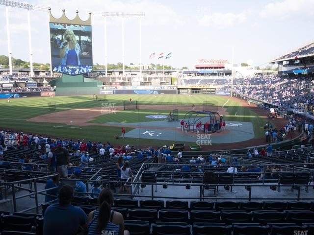 Kauffman Stadium Section 225 view