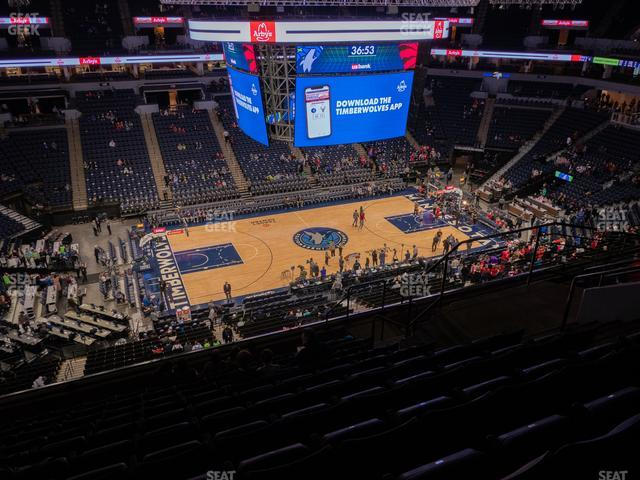 Target Center Section 233 view