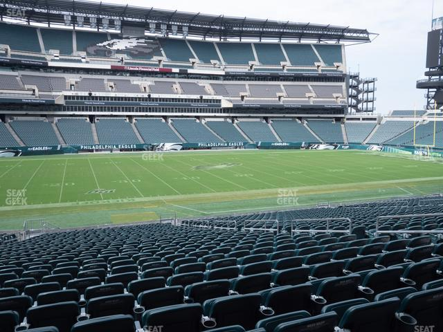 Lincoln Financial Field Section 117 view