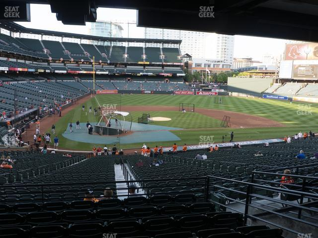 Oriole Park at Camden Yards Section 29 view