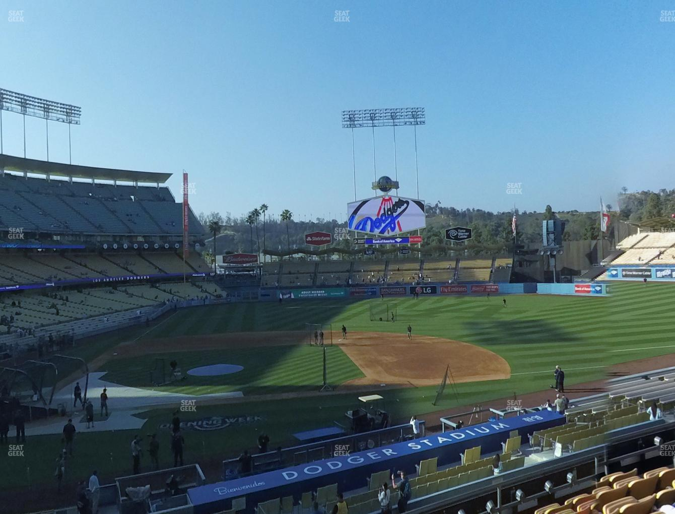 Los Angeles Dodgers at Dodger Stadium Loge Box 128 View