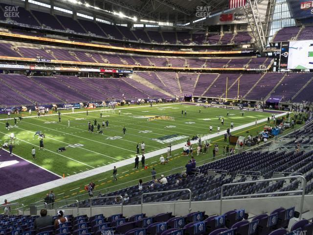 U.S. Bank Stadium Section 136 view
