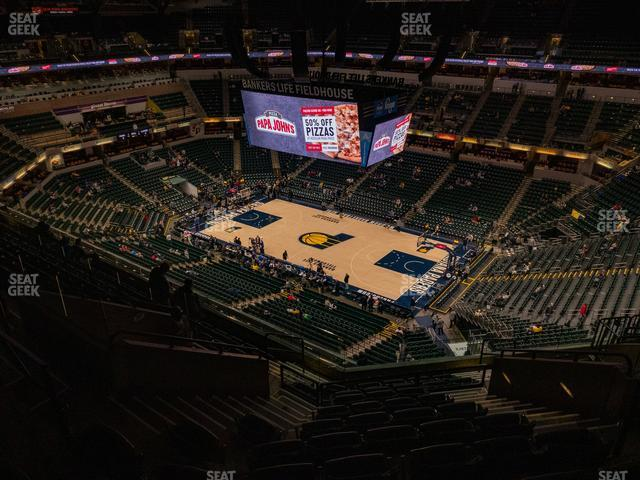 Bankers Life Fieldhouse Section 206 view