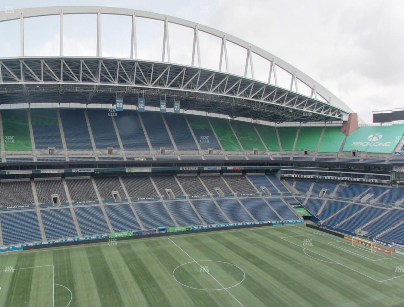 Seattle Sounders FC at CenturyLink Field Upper 338 View