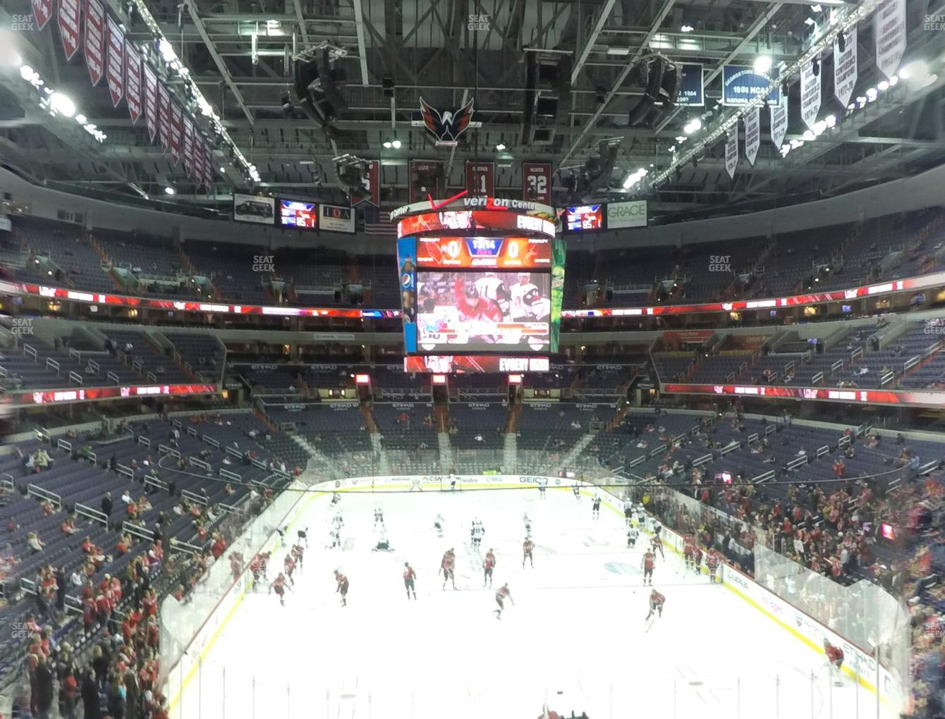 Washington Capitals at Capital One Arena Section 222 View