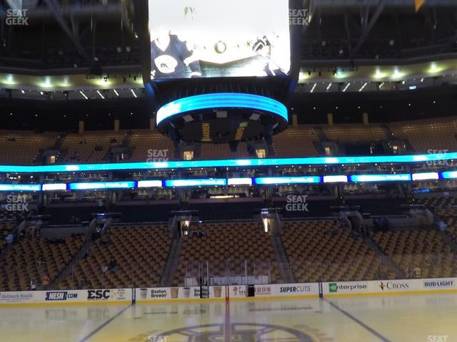 TD Garden Section Loge 1 view