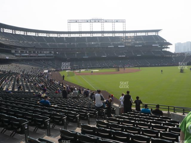 Coors Field Section 110 view