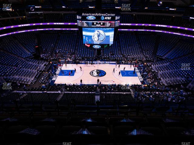 American Airlines Center Section 310 view