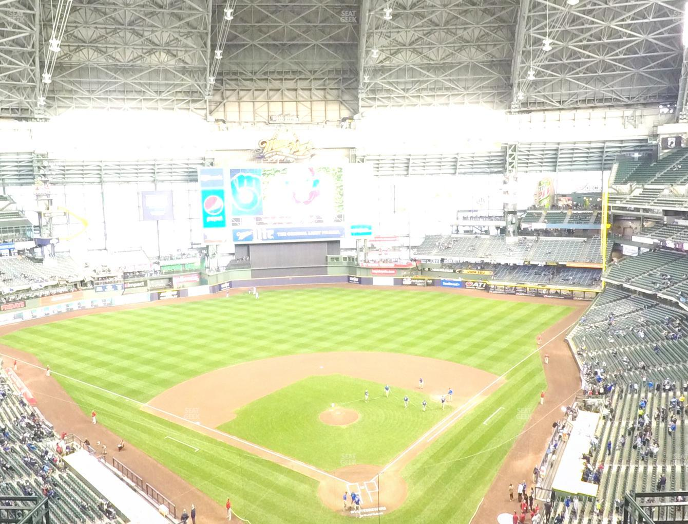 Milwaukee Brewers at American Family Field Section 423 View