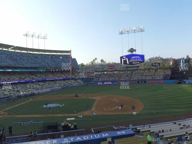Dodger Stadium Loge Box 134 view