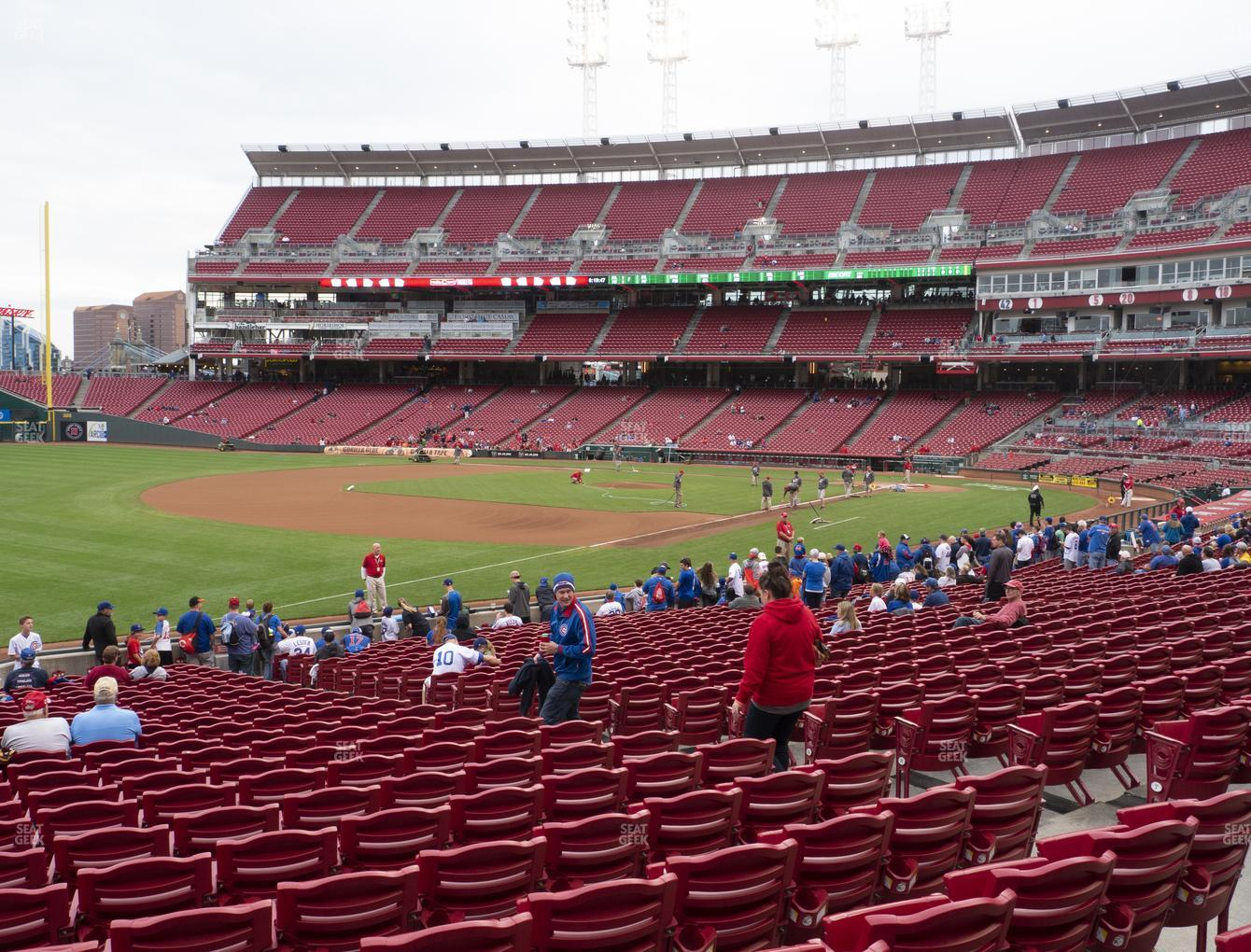 Cincinnati Reds at Great American Ball Park Section 112 View
