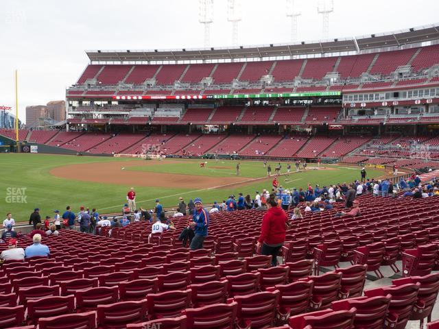 Great American Ball Park Section 112 view
