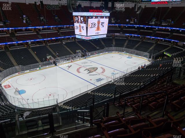 Honda Center Section 438 view