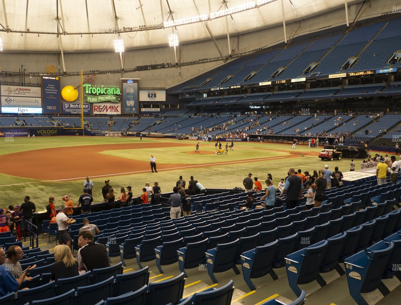 Tampa Bay Rays at Tropicana Field Section 123 View