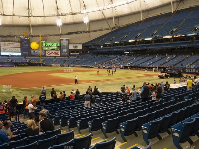 Tropicana Field Section 123 view
