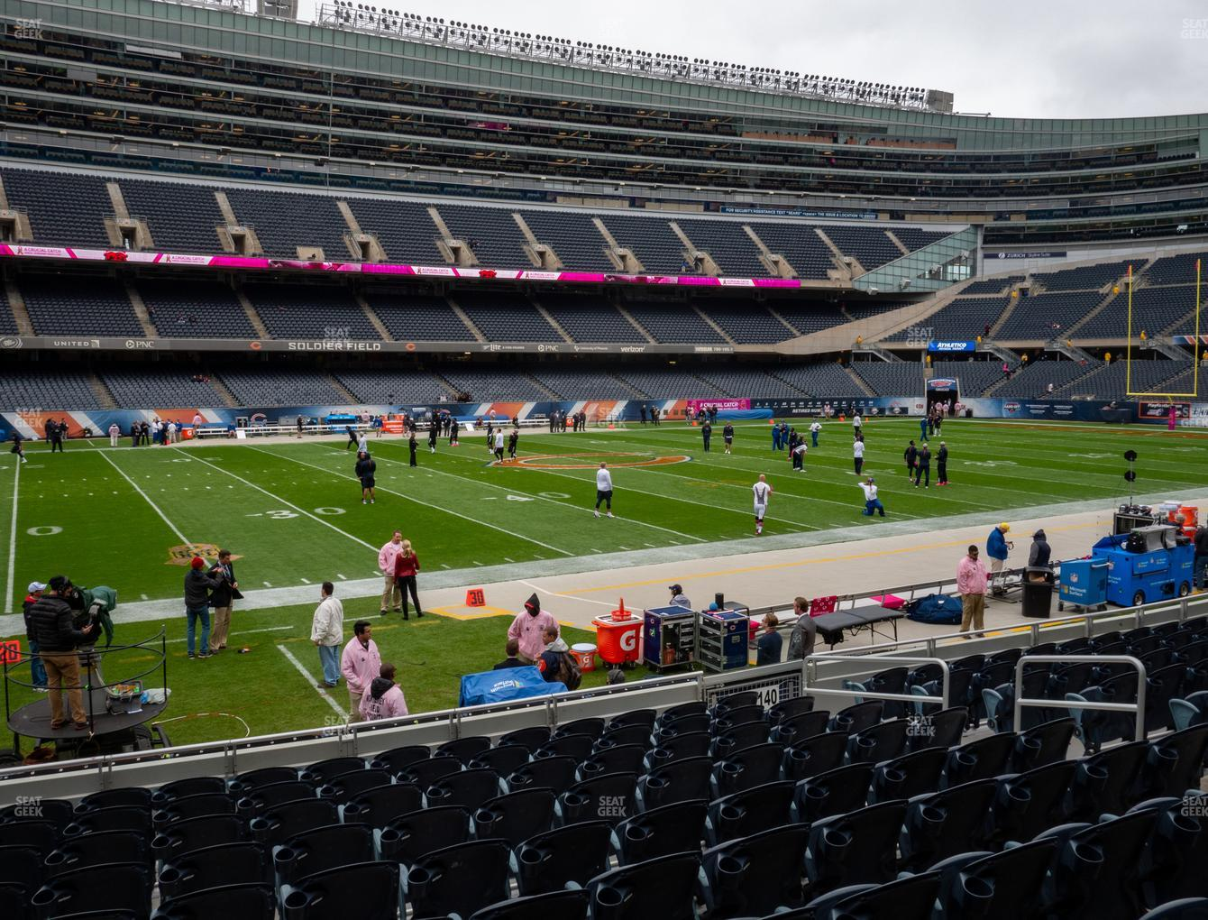 Chicago Bears at Soldier Field Section 141 View