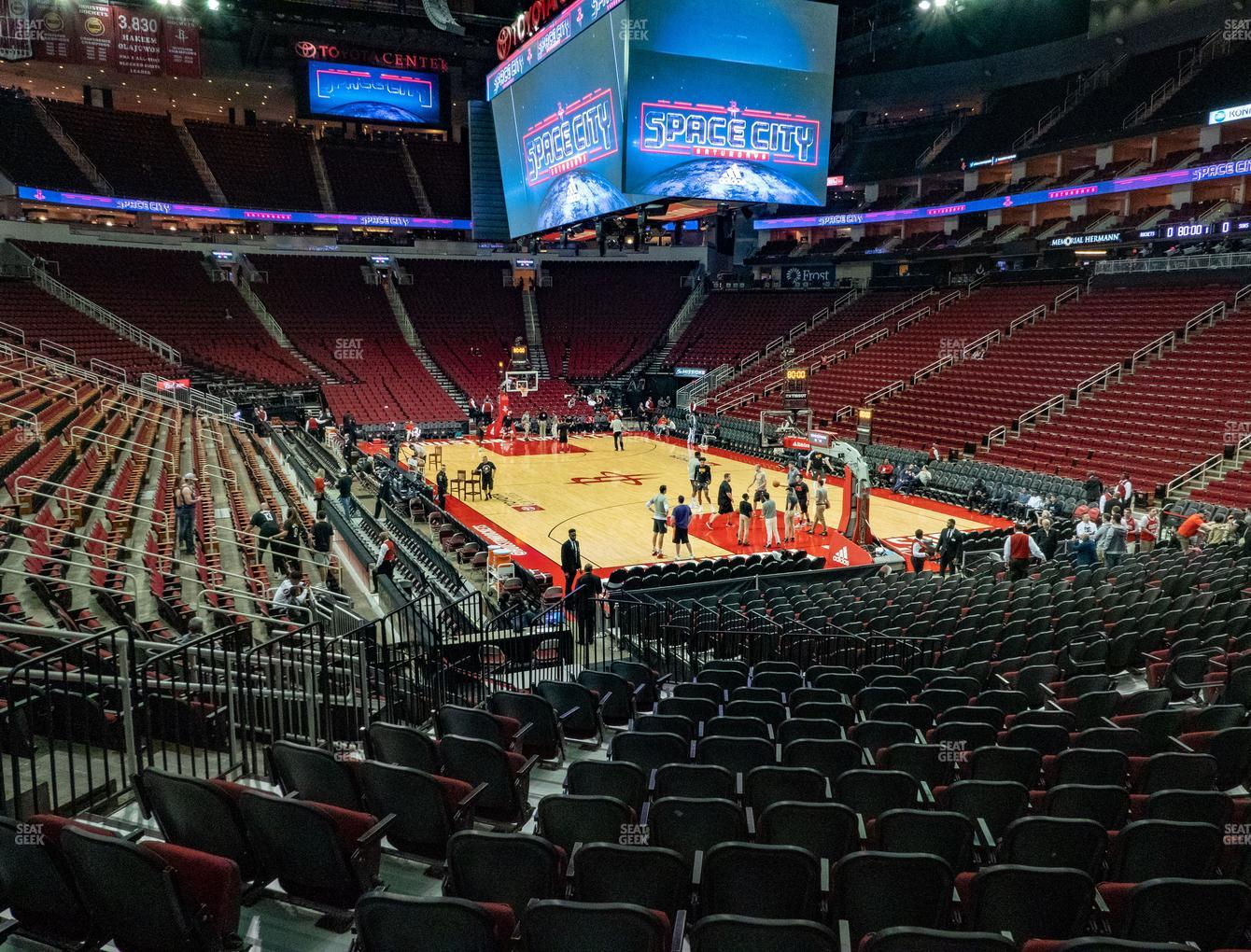 Houston Rockets at Toyota Center Section 115 View