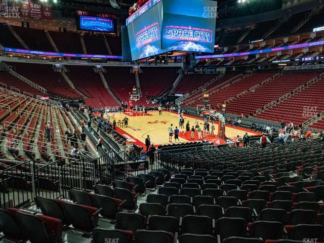 Toyota Center Section 115 view