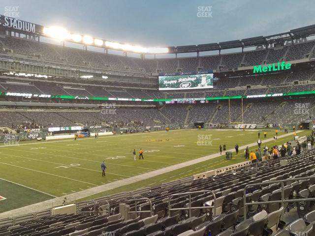 MetLife Stadium Section 118 view