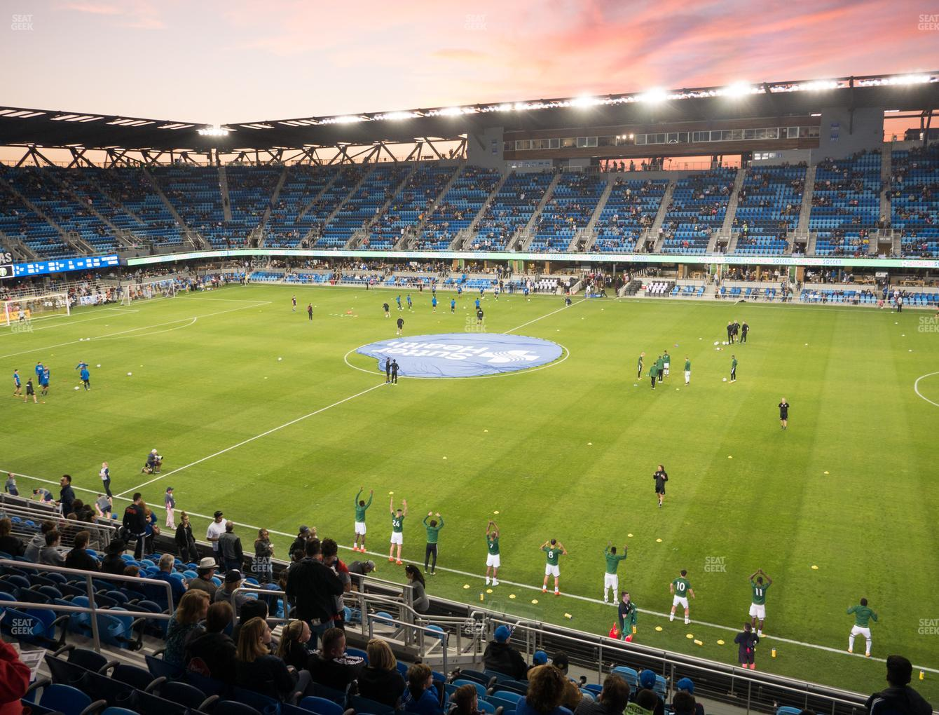 San Jose Earthquakes at Avaya Stadium Section 132 View