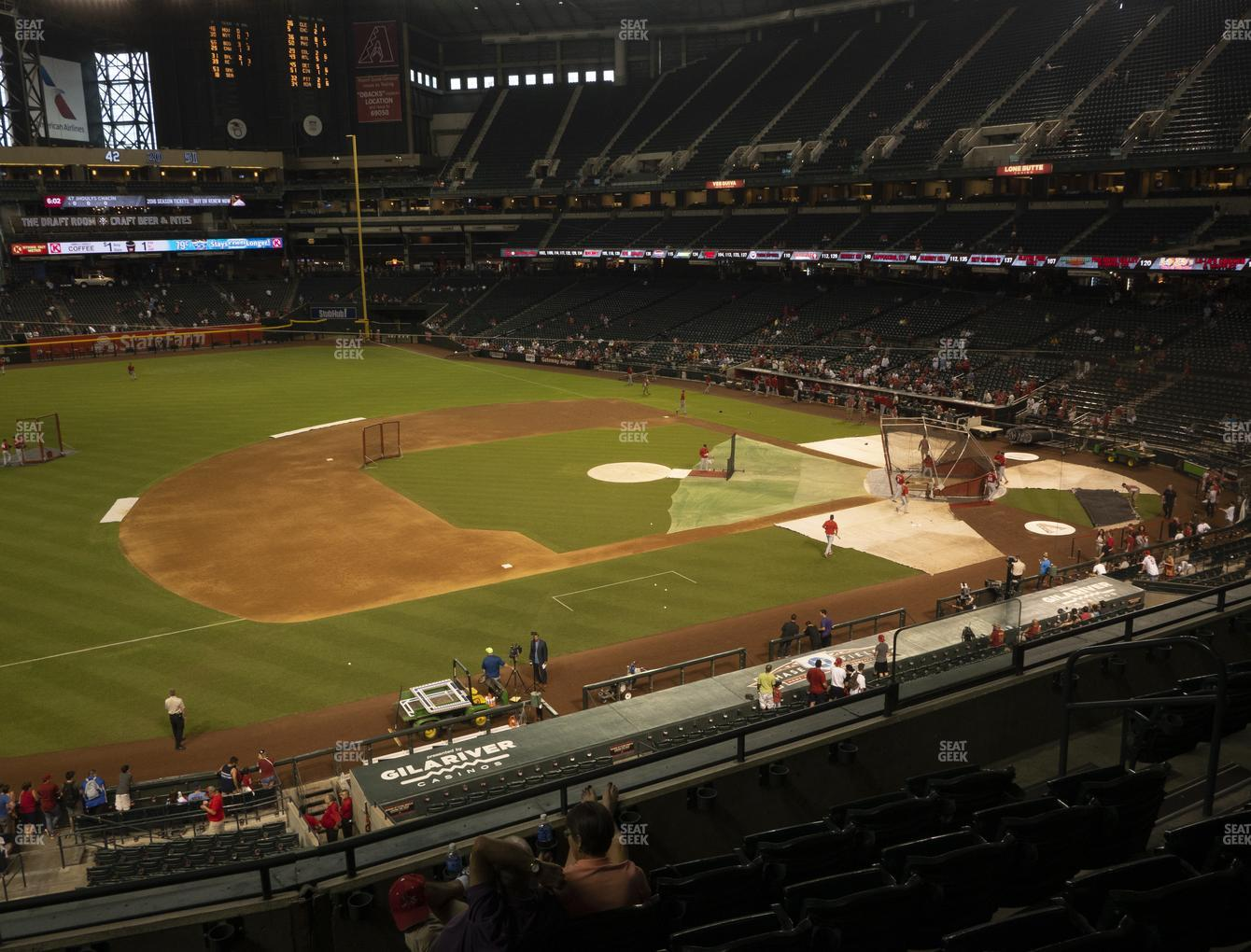 MLB at Chase Field Section 214 View