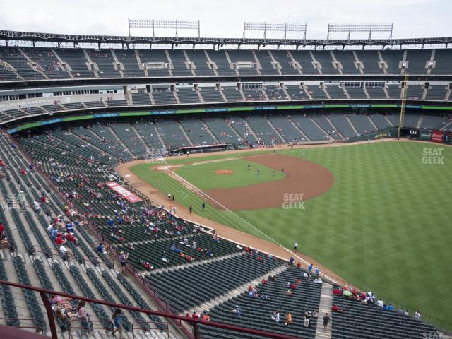 Globe Life Park Section 341 view