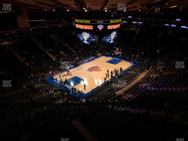 Madison Square Garden Section 323 view