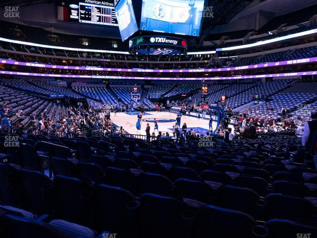 American Airlines Center Section 102 view
